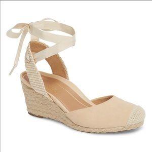 VIONIC MARIS ESPADRILLE Lace up Wedge Sandals 7.5